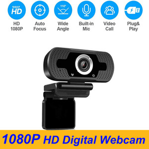 1080P HD Digital Webcam Built-in Mic 2MP PC Laptop USB Charging for Home Office Online Studying Meeting Conference