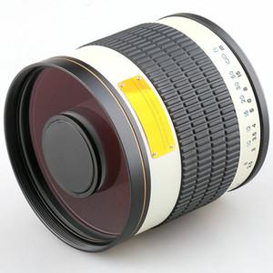 Jintu 500mm F / Canon EOS DSLR fotoğraf makinesi White için 6.3 Telefoto Ayna Objektif + T2 adaptörü