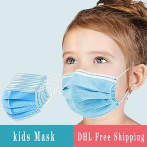 Einweg-Gesichtsmaske für Kinder 3 Ebene Einweg-Gesicht 50 PC-Maske / Beutel Anti-Staub-Schutz Maske Im Lager