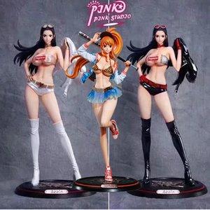 Japón animado boa de una pieza figura de acción Hancock Nico Robin Nami GK PVC Juguete Sexy Girl cifras de recaudación Adult Model muñeca del regalo T200910