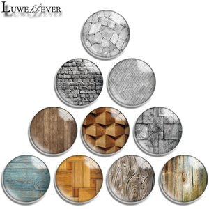 10mm 12mm 14mm 16mm 20mm 25mm 30mm 642 Stone wood Round Glass Cabochon Jewelry Finding Fit 18mm Snap Button Charm Bracelet Necklace