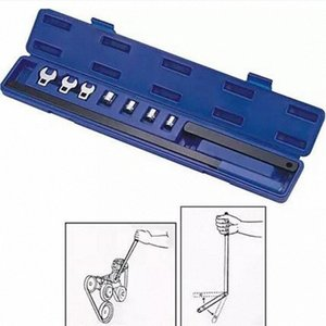 herramienta de reparación de coches 8PCS de llaves de trinquete Serpentina Tool Kit Cinturón Automotive Repair Set de sockets PPDU #