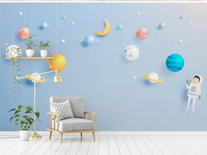 cute cartoon Nordic style children's bedroom mural TV back wall decor deep 5D embossedNew Custom large mural 3D wallpaper