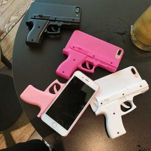 Для Iphone 11 Pro Max моды 3D интересные ружей телефон для IPhone 6 7 8 Plus X XS MAX XR Мягкий силиконовый пистолет игрушка оболочки