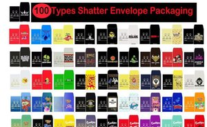 Packaging Strain Packs 100 Packaging Packs Slim Assorted Wax Custom Shatter Paper Sd Types Coin Concentrate Shatter Envelope Card SQ2009 wj
