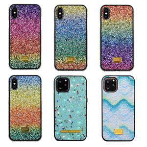 iPhone Glitter diamante strass capa para 11 Pro Max Xr Xs i Phone 6 7 8 Plus Nota 10