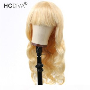 Human Hair Wig with Bang Brazilian Body Wave 100% Real Human Hair Wigs Malaysian Peruvian Virgin Full Machine Made Capless Wigs 150%