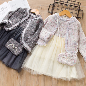 Girls Princess Clothes Suits Winter Style Kids Girls Party Elegant Cute Girl Outfit Children Woolen Clothing Sets