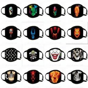 Skeleton orror Maske Alloween Schrei Maskerade Druck Masken Erwachsener Voll Fa Maske Retro Canine Mask # 203