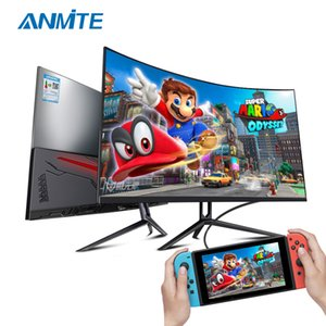Anmite 27 inch 75hz HDR Curved FHD [1920 x 1080] Gaming Monitor PC usb Type-c HDMI Ultra-thin USB-C screen Display