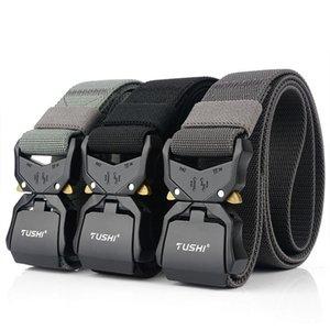 2020 Nuevo cinturón elástico Oficial genuino de metal duro de liberación rápida hebilla de los hombres de táctica hombres de la correa de accesorios Dropshipping