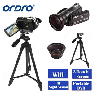 "Ordro HDV-D395 Tragbare Camcorder Nachtsicht Full HD 1080P 18x 3.0 ""Touchscreen Digital Videokamera Recorder DV Wifi"