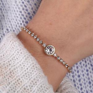 Pulseras Kinfolk pulsera del encanto del corazón de cristal de la pulsera de las mujeres del oro regalos de la joyería de las nuevas pulseras año MUJER Moda 2020