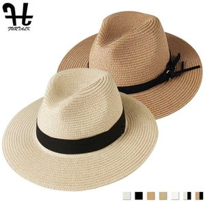 Erkek için UV Koruyucu Cap chapeau için Kadınlar Man Plaj Straw Hat için FURTALK Panama Şapka Summer Sun Şapkalar 2020 femme