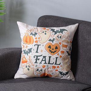 Halloween Pumpkin Pillow Case Waist Throw Cushion Cover Sofa Festival Decorative Thanksgiving Day 45*45 cm Pillow Case