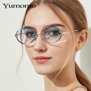 Marco retro clásico YUMOMO pequeñas y redondas gafas de sol de las mujeres / de los hombres a estrenar diseño de aleación de espejo Gafas de sol Modis Oculos de la vendimia