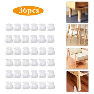 Piedi rotonda del silicone Chair Table Cover protezione del pavimento Mobili piedini antigraffio protezione antiscorrimento del rilievo Caps gamba della sedia