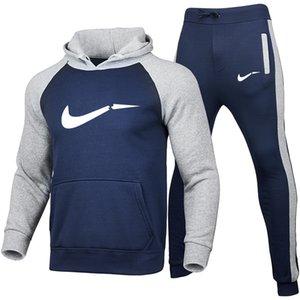 2021 Modedesigner Anzug des neuen heißen Zwei Stücke gesetzte Art und Weise Hoodies Sportswear Herren Pullover + Jogginghose Frauen Winterjacke Kleidungssatz