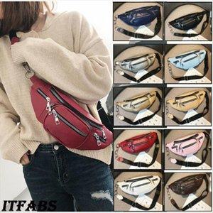 Fashion Women Waist Belt Bag Leather Fanny Pack Shoulder Chest Bag Travel Phone Pouch Bumbag Travel Zip Pocket Pouch Unisex