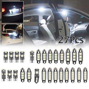 27pcs / Set dell'automobile di alta qualità LED interni luce bianca mini lampadine Kit 6000K Auto Accessori per la classe E W211 02-08