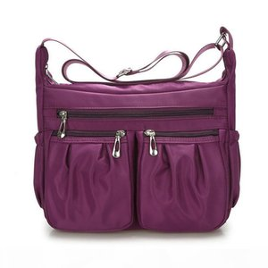Womens Handbags Tablets Bags Fashion Solid Waterproof Nylon Shoulder Bag Zipper Crossbody Bag For Women Bolsa Feminina Af6