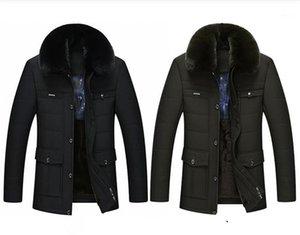Hinunter Mens lösen plus Größen Solid Color Parkas Herren Designer Wintermantel Mode Fleece Warm lange Ärmel