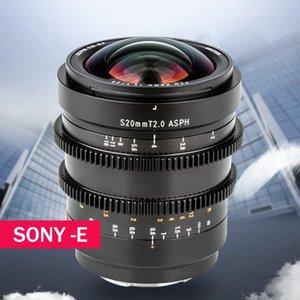 Viltrox의 20mm T2.0 시네 렌즈 전체 프레임 국무 영화 같은 MF 소니 E 마운트 카메라 A9ii A7RIV A7III A7SII A7R3