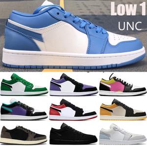 Low 1 1s Jumpman chaussures de basket UNC OG SP Travis Scotts bout noir pin vert triple noir blanc hommes femmes formateurs baskets