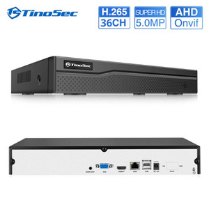 TinoSec 36CH H.265 CCTV DVR NVR Recorder Security Camera System Video 5MP AHD Motion Detect Analog CCTV IP Camera Onvif P2P