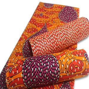 2020 مسحوق الذهبي عالية الجودة طباعة النسيج الشمع قماش 100٪ قطن 6yards النيجيري الأفريقي أنقرة النسيج