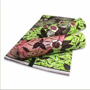 Livraison gratuite 6 verges coton de haute qualité cire Nigerian Ankara tissu imprime des matériaux de couture de cire d'or pour les femmes africaines robe