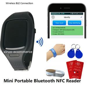 HF Mini Portable Bluetooth Reader с Watch Band Wireless внешний RFID 13,56 МГц Длинный RFID-карта NFC Reader Writer