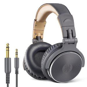 Oneodio Profesional DJ del estudio de los auriculares con micrófono sobre la oreja con cable de alta fidelidad Monitoreo Auriculares Gaming plegable estéreo para PC