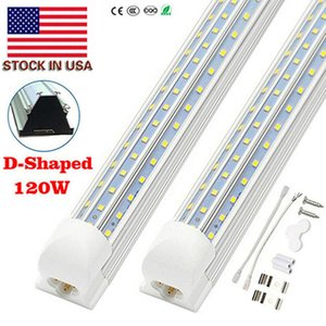 V Shaped Integrated LED Tubes Light 4ft 8ft LED Tube T8 72W 120W 144W 150W Double Sides Bulbs Shop Light Cooler Door Light