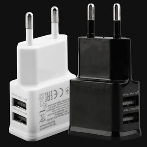 Us  Eu Plug 5v 2a Dual Usb Port Eu Plug Ac Wall Charger Adapter For N7100 Note 2 3 Cellphone Tablet Wholesale