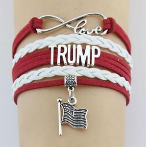 DHL Trump 2020 Weaving Bracelet Make America Great Again Commemorative Wristband Fashion multi layer Cord Braid Bracelet Supplies