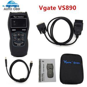Vgate MaxiScan VS890 Universal Diagnostic Tool Auto Scan tool VS 890 OBD2 Vgate VS890 Scanner Free Shipping