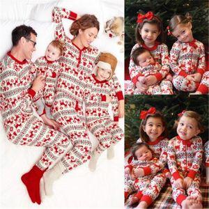 가족 크리스마스 매칭 잠옷 세트 2020 크리스마스 가족 매칭 의류 크리스마스 성인 어린이 아기 가족 잠옷