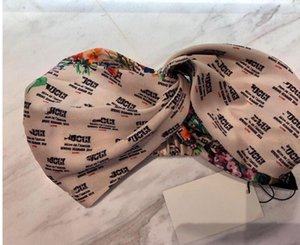 fasce per capelli di marca calda seta elastica Heabands per Designer di lusso delle donne di alta qualità floreale fascia headwraps goccia regalo Bandane nave C422