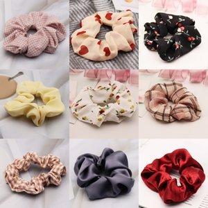 2020 Веревка New Sweet Girl Красивая вышивка цветок Пряжа Резинка для волос корейской моды Дети Аксессуары Лук Шпильки для волос # 156