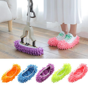 Dust Cleaner Grazing Slippers Bathroom Floor Cleaning Mop Cleaner Slipper Lazy Shoes Cover Microfiber Duster Cloth YP414