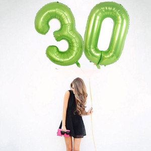 40 inch Large number balloon 1 2 3 4 5 Number Digit Helium foil Ballons Baby Shower Birthday Party Wedding Decor Supplies AAF1955