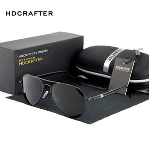 Солнцезащитные очки HDCRAFTER Pilot Мужчины Поляризованные Ретро Мужские Вождения Старинные Старинные Очки Аксессуары Наружные Рыбацкие оттенки UV400