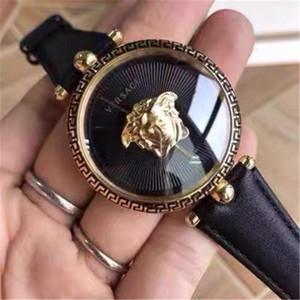 Relojes de oro para mujer famosa marca de relojes de cuarzo PALAZZO Serise mujeres de los hombres de moda del reloj del regalo del reloj de cuero masculino Señora Relogio Montre Con Boxe