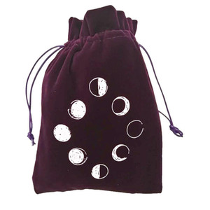 Storage Drawstring Tarot Card Lunar Cards Bag Bag Pattern 13x18cm Package Deck Embroidery Bag Tarot Game Velvet Container Board yxlXHR