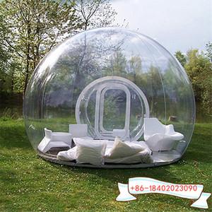 Livraison gratuite 3m PVC transparent hôtel salle de bulle gonflable gonflable Bubble Lodge Tente