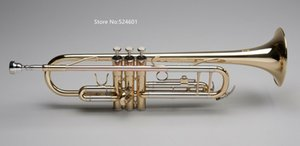 Brand New Bb Tune Trumpet Brass Lacquer Plated Professional musical instrument with case mouthpiece Free Shipping