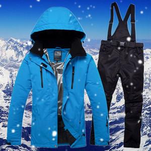 Лыжные куртки Женские и мужские лыжные куртки Водонепроницаемый ветрозащитный открытый спортивные брюки костюма пара термальные снежные сноуборд GCC092