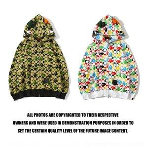 nueva cabeza de tiburón marca de moda chaqueta de punto con capucha pequeño dinosaurio conjunta de camuflaje con capucha suéter capa de capa de las mujeres de los hombres y de las GVad3 20ss