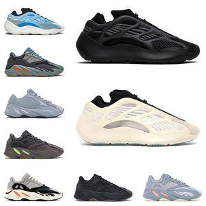 adidas Kanye west 700 shoes erkek kadın koşu ayakkabıları moda eğitmenler Arzareth Wave Runner Utility Siyah Azael Vanta Mauve Tuz Statik erkekler açık sneakers